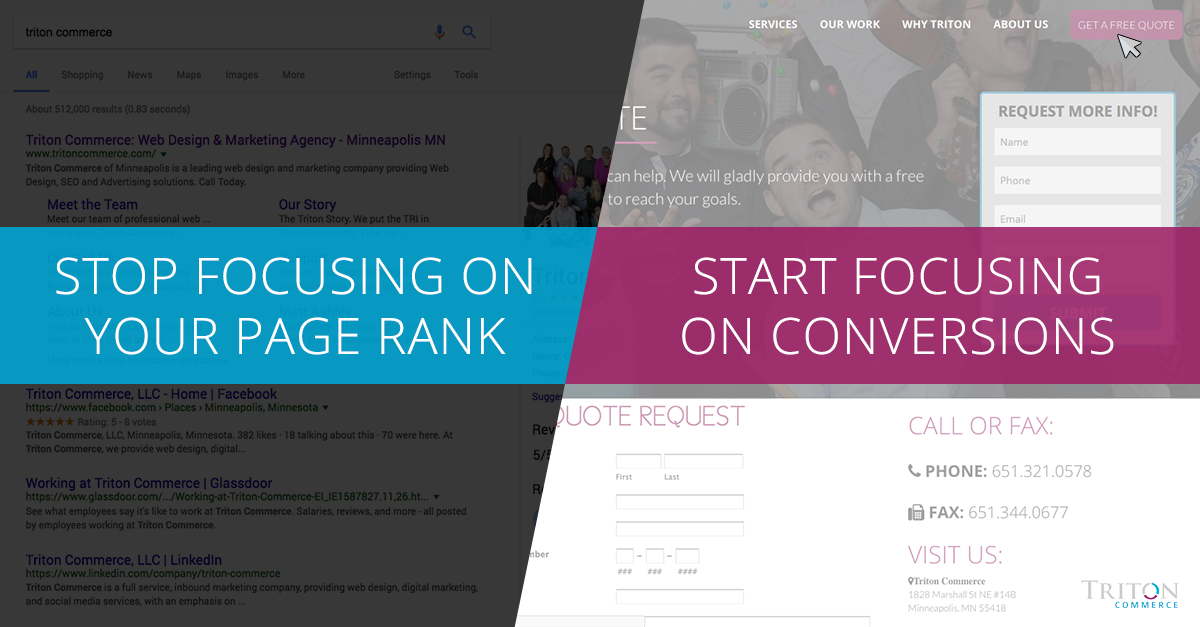 Stop Focusing On Your Page Rank, Start Focusing On Conversions